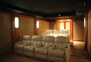 Home Theater Wall Panels stretch-fabric system home theaters acoustics panels